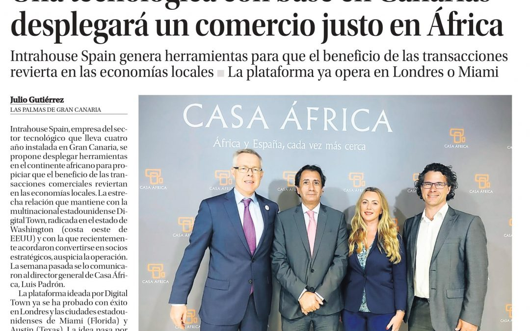 A technology based in the Canary Islands will deploy fair trade in Africa – La Provincia