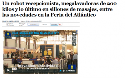 A receptionist robot, 200-kilogram mega washing machines and the latest in massage chairs, among the novelties at the Atlantic Fair – Maspalomas Ahora